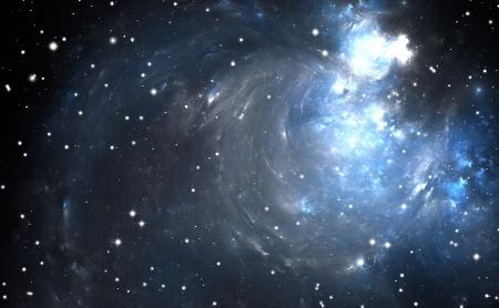 Stars and planets within Nebulae Stock Photo