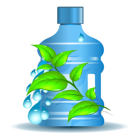 purified: Plastic bottle with clean drinking water