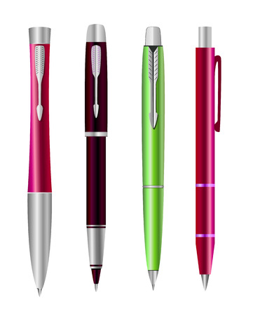 Vector illustration of set colorful pens Stock Vector - 23315334