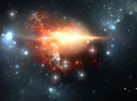 explosion de supernova dans la nébuleuse