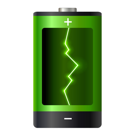 recharge: Concept battery power. Vector illustration. Illustration