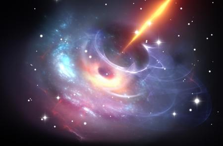 Heavy black hole with plasma jet