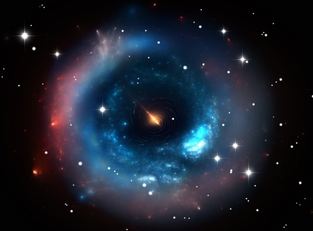 Heavy black hole. Front view