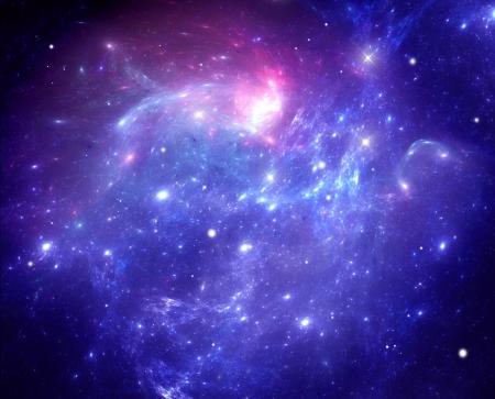 Purple space nebula Banque d'images