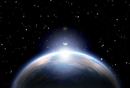私が作った地球と Sun.All の芸術の要素