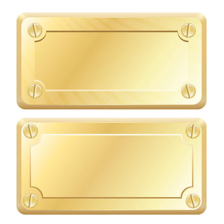 Vector Gold Metal Labels - Nameplates Vector