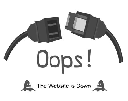 The Website is Down Vector