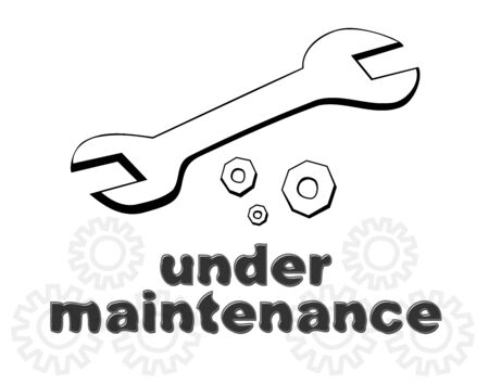 Down for maintenance website page message Vector