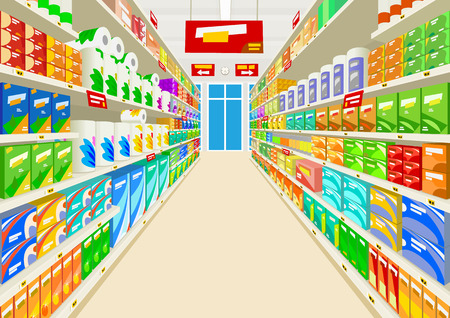 Supermarché Illustration