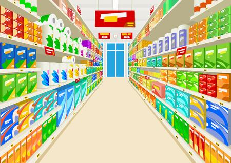 mensole: Supermercato Vettoriali