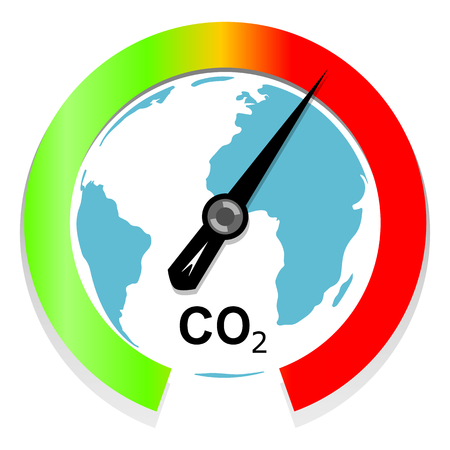 dioxido de carbono: El cambio climático y el calentamiento global concepto Vectores