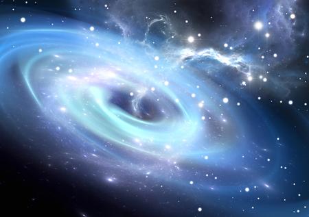 galaxy: Schweres schwarzes Loch.