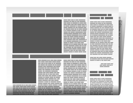 Newspaper illustration Vettoriali