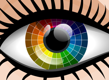 colorful palette woman eye Vector