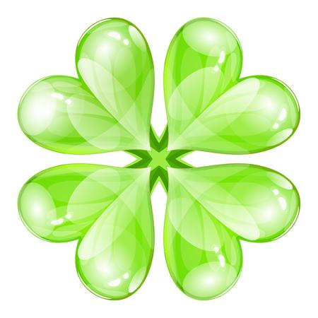 four fourleaf: glossy four-leaf clover
