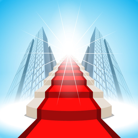 vision future: Stairs leading up to success.