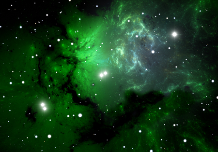 hydrogen: Green cold hydrogen clouds in the nebula