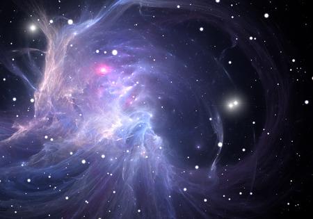 clusters: Blue space nebula Stock Photo