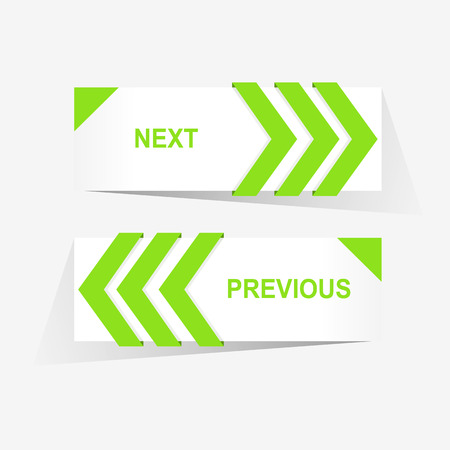 slide show: Vector Previous and Next navigation buttons for custom web design