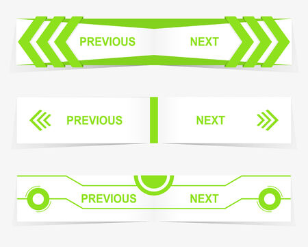 Vector Previous and Next navigation buttons for custom web design Vector
