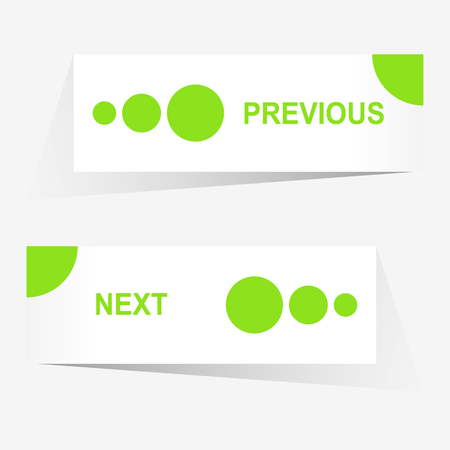 pagination: Vector Previous and Next navigation buttons for custom web design