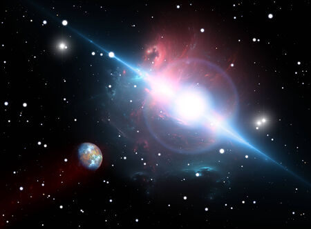 The planet orbits the pulsar In the danger zone photo