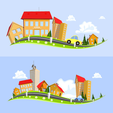 Paysage urbain illustration vectorielle