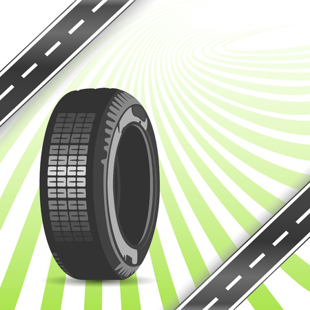 retreading: Black rubber tire