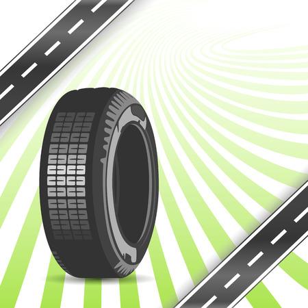 retreading: Black rubber tire