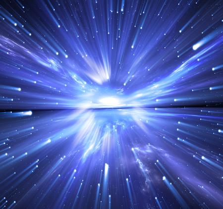 big: Una c�psula del tiempo, viajando en el espacio con estrellas.