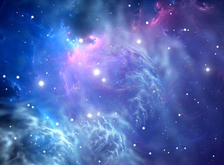 Blue space nebula Standard-Bild