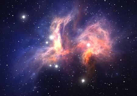 宇宙の星雲 写真素材