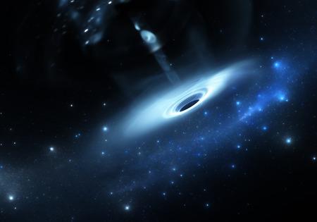 wormhole: Stars falls into a black hole