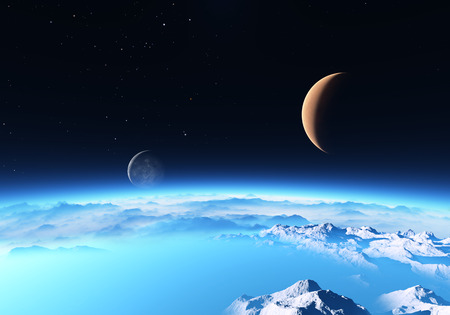 cosmology: Ice planet with a Moon