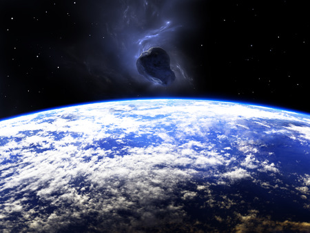planetoid: Huge asteroid flying around the Earth