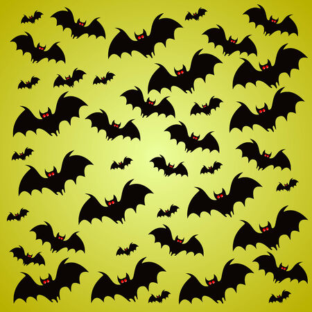 Halloween holiday background with bats Vector