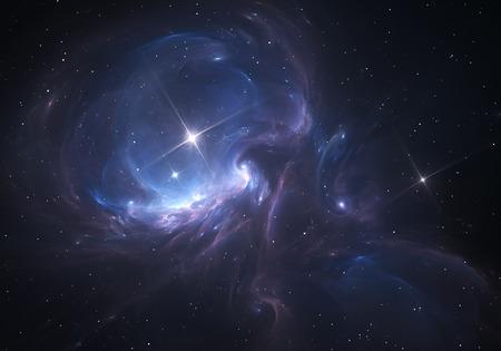 Space Nebula. Nuage de gaz et de poussière bloque la lumière de lointaines étoiles. Banque d'images