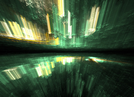 Abstract time warp, traveling in space.