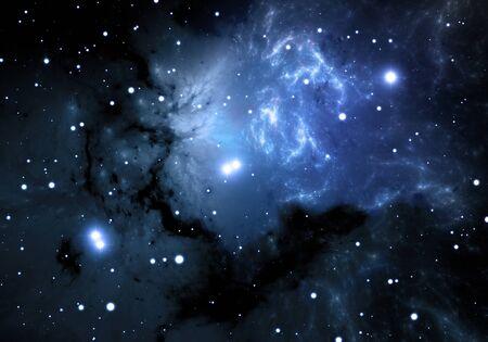 nebula: Blue space nebula Stock Photo