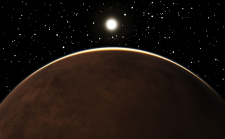 cosmology: Sunrise over the planet Mars