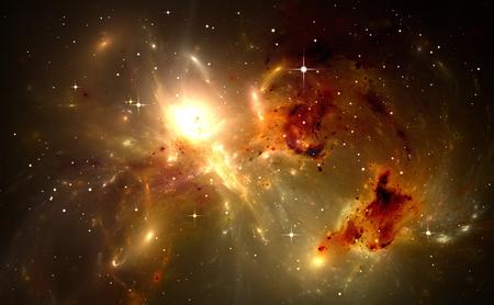 領域の背景の星雲と星 写真素材