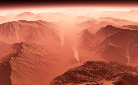 cosmology: Dust storm on Mars