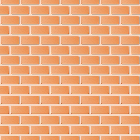 clay brick: Red brick wall vector illustration background. Texture pattern