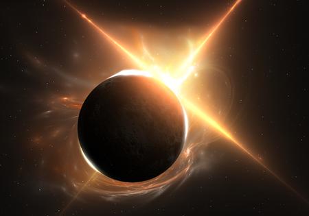 Total eclipse of the Sun Archivio Fotografico