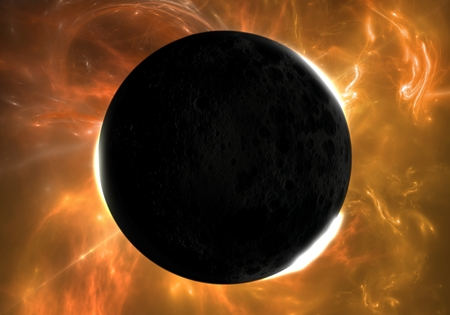 total: Total eclipse of the Sun Stock Photo
