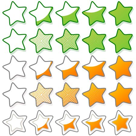 liked: Five stars ratings web button
