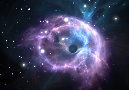 Schwarzes Loch im Nebel Standard-Bild