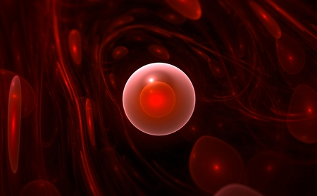 blood flow: Red blood cells flowing through vein for use with projects on science, research, biology and education Stock Photo