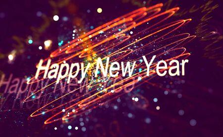 brilliancy: New year decoration over blurred background