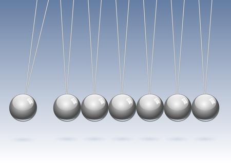 newton's cradle: Classic Newtons cradle. Concept of teamwork, vector